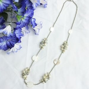 Jewelry - Pearl & Shell Chain Necklace